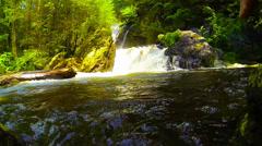 Bash Bish Falls: Waterfall Slow-Motion Stock Footage