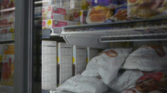 Frozen Aisle in Supermarket - stock footage