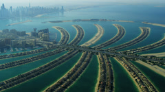Aerial view of Palm Jumeirah, Dubai, Stock Footage