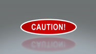 Stock Video Footage of oval signage of caution