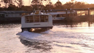 Public Ferry Docking in Station Stock Footage