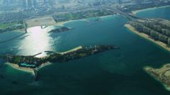 Aerial view Dubai coastline Stock Footage