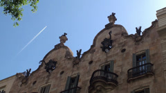 Types of Casa Calvet. Architect Antoni Gaudi. Barcelona, Spain. Stock Footage