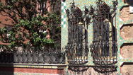 Stock Video Footage of Types of Casa Vicens. Architect Antoni Gaudi. Barcelona, Spain.