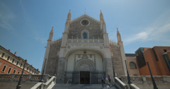 4K Video of the San Jerónimo el Real / St. Jerome Royal Church, Madrid, Spain Stock Footage