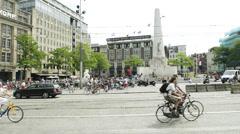 Establishing shot of Amsterdam Stock Footage