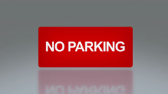 rectangle signage of no parking - stock footage