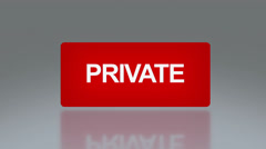 Stock Video Footage of rectangle signage of private