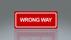 rectangle signage of wrong way - stock footage