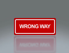 Stock Video Footage of rectangle signage of wrong way 4k