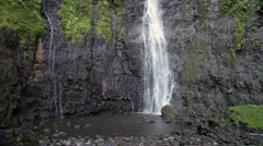 waterfall. Polynesia. Tahiti - stock footage