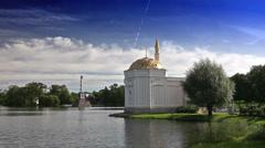 "Pavilion ""Turkish bath"". Catherine Park. Pushkin (Tsarskoye Selo). Petersburg Stock Footage"
