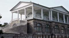The Cameron Gallery. Catherine Park. Pushkin (Tsarskoye Selo). Petersburg Stock Footage