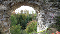 Russia. Ancient fortress. view from a wall. Stock Footage