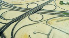 Aerial view expressway Dubai Stock Footage