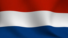 Netherlands flag Stock Footage