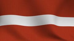 Latvian flag Stock Footage