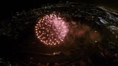 Fireworks aerial timelapse video Stock Footage