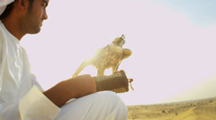Bird of Prey with Middle Eastern Owner Stock Footage