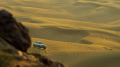 Tourism Desert Safari Dubai Sand Dunes Stock Footage