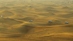 Off Road Vehicles Desert Safari - stock footage