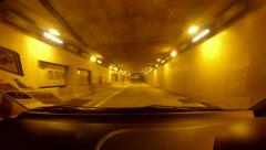 Driving into Malaysian Smart Tunnel Stock Footage