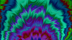 Fractal Background Loop: Oil Paint Ripple Stock Footage