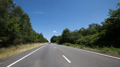 Time-lapse of a drivers POV on the A3 road in Surrey - stock footage