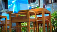 Beach restaurant with a beautiful sea view. Thailand Koh Samui, Video. Stock Footage