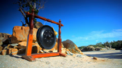 Big ancient drum used in royal ceremony at the beach on Thailand Koh Samui. Stock Footage