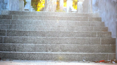 Staircase illuminated by sunlight on a mysterious way of life. Video shift Stock Footage