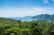 Stock Photo of view of the island  phi phi don  from the viewing point,thailand.