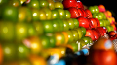 Exotic fruits for sale in the street Asian market. Video Stock Footage