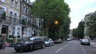 Stock Video Footage of Exclusive neighborhood residential area in London