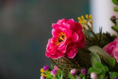 Colorful decoration artificial flower Stock Photos