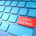 Stock Illustration of online news keyboard