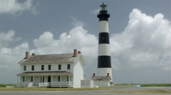 Bodie Lighthouse Before Hurricane Arthur 2014 Outer Banks, NC - stock footage