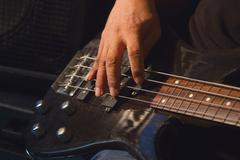 guitarist plays solo - stock photo