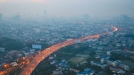 Stock Video Footage of Bangkok Traffic in Smog