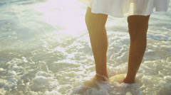 Bare Legs Latin American Beach Girl - stock footage