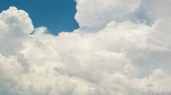 Stock Video Footage of tight time lapse thunderhead building up churning and rolling -2