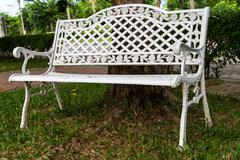 A white bench Stock Photos