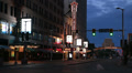 Cleveland Playhouse Square Evening Wide HD Footage