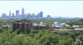 Cleveland Ohio Skyline Extreme Wide Footage