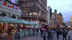 London Leicester Square alive area at London westend - stock footage