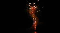 Fireworks Pop and Flash High in the Sky - Celebration!! Stock Footage