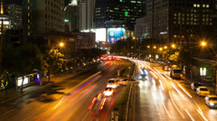 Night Bangkok streets time lapse Stock Footage