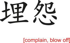 Chinese Sign for complain, blow off Stock Illustration