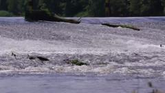 Stock Video Footage of Water Weir on River