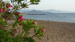 Spain, Mar Menor, sea tourist resort La Manga sunset cityscape, landscape. Stock Footage